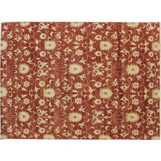 Oushak Kaveh Rust Hand-knotted Rug (8' x 12')
