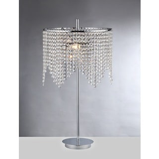 Kylie 2-light Chrome 15-inch Crystal Table Lamp