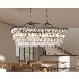 Jaden 4-light Crystal 30-inch Chrome Chandelier