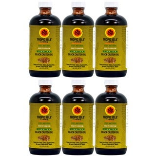 Tropic Isle 8-ounce Jamaican Black Castor Oil with Applicator (Pack of 6)