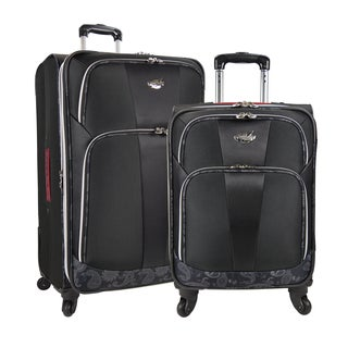 Bret Michaels by Traveler's Choice Classic Road 2-piece Expandable Spinner Upright Luggage Set