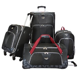 Bret Michaels by Traveler's Choice Classic Road 4-piece Expandable Spinner Luggage Set