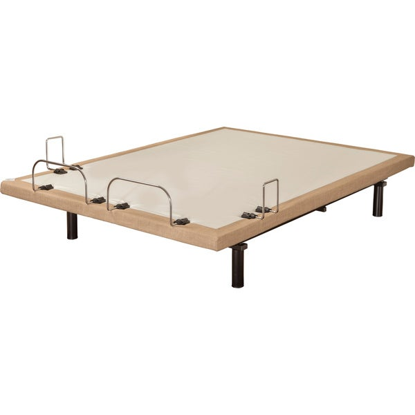 Sleep Zone M-100 Dum Dum Stone Twin XL-size Adjustable Bed with Wired Remote and Side Retainer Bar