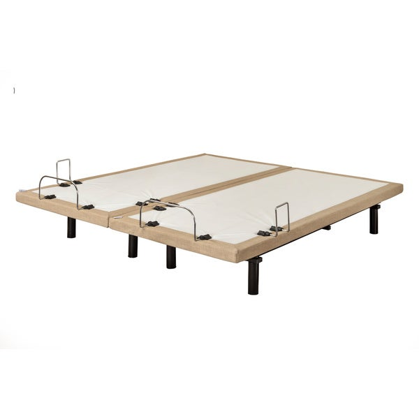 Sleep Zone M-100 Split Dum Dum Stone California King-size Adjustable Bed, Wired Remote and Side Retainer Bar