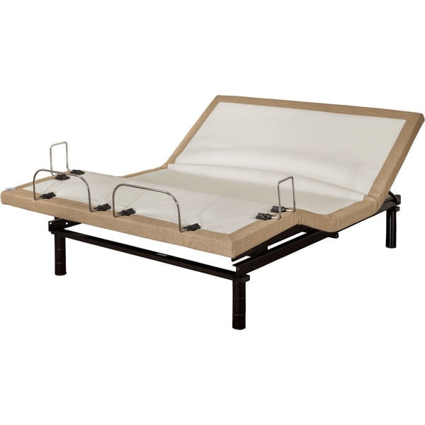 Sleep Zone M-200 Split Cal King-size Adjustable Bed with Three Programmable Positions, Silver Remote and Side Retainer Bar