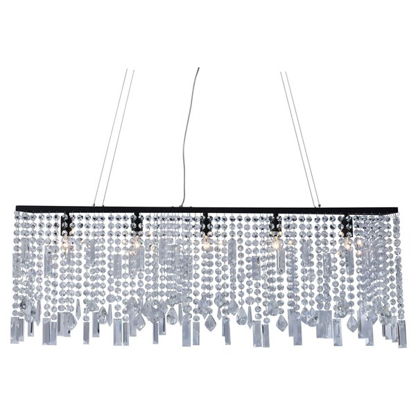 40-inch Suspension Linear Chandelier, Black Finish