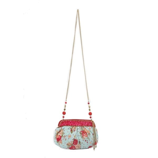 Ivory Tag Beaded Rossete Clutch (India)