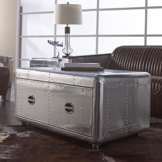 Lazzaro Leather Lindbergh Bomber Cocktail Table