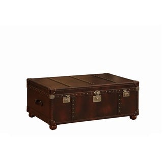 Lazzaro Leather General Cocktail Table