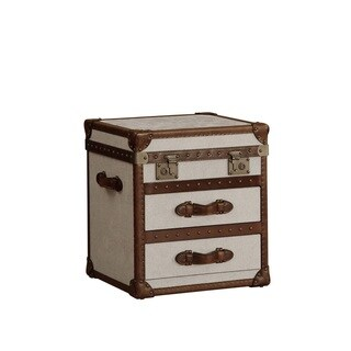 Lazzaro Leather General Two Drawer Flip Top End Table