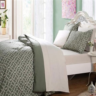 Affluence Green Bed-in-a-Bag Comforter Set