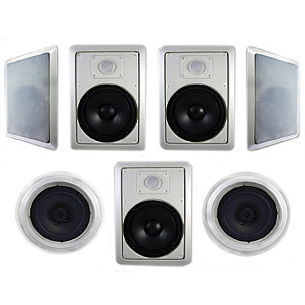 Acoustic Audio HT-87 In-Wall/ Ceiling Home 7.1 Theater 8-inch Speaker System 2100W