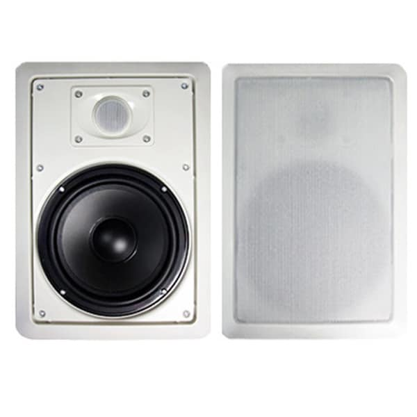 Acoustic Audio MT8 In Wall 8-inch Speaker Pair 2 Way Home Theater 600 Watt MT8-PR