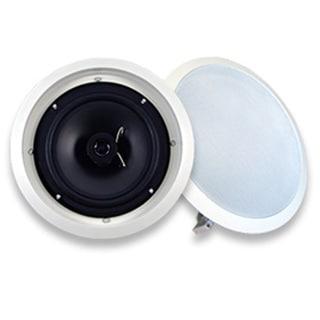 Acoustic Audio SP8c In Ceiling 8-inch Speaker Pair 2 Way Home Theater 600 Watt SP8c-PR