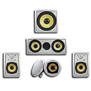 Acoustic Audio HD515 In-Wall/ Ceiling Home Theater Surround 5.1 Speaker System