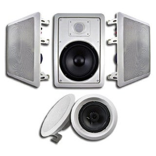 Acoustic Audio HT-65 1250 Watt 5.1CH In-Wall/ Ceiling Home Theater Speaker System
