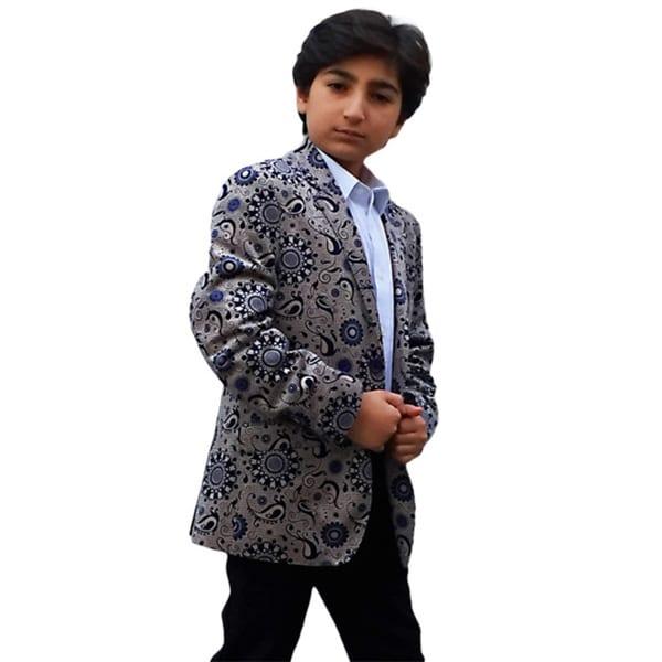 Elie Balleh Milano Italy Boy's 2015 Style Paisley Jacket/ Blazer