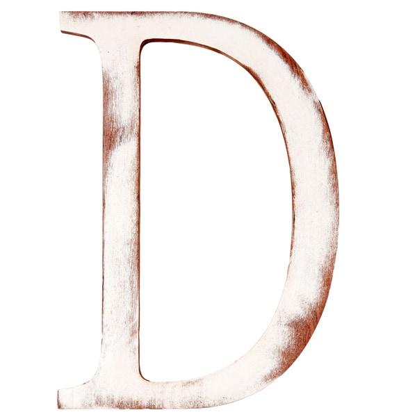 Mahogany 'D' Wooden Decorative Letter