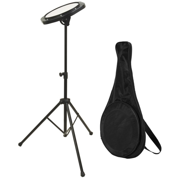 Drum Practice Pad with Stand and Bag