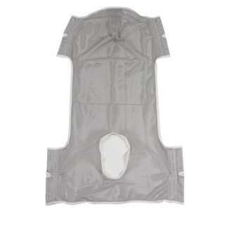 Patient Lift Commode Sling with Head Support