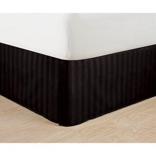 Elegant Comfort Wrinkle-Free & Fade-Resistant Dobby Stripe 14-inch Drop Bed Skirt