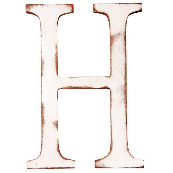 Mahogany Letter H