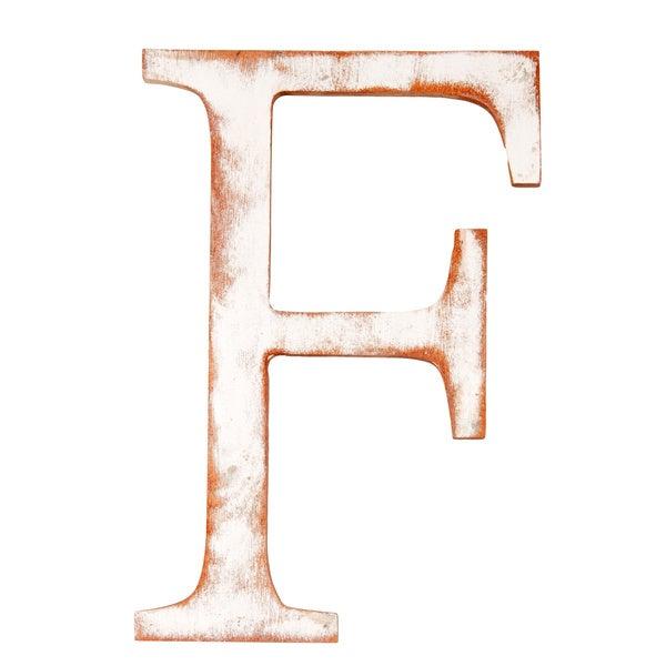Mahogany Letter F