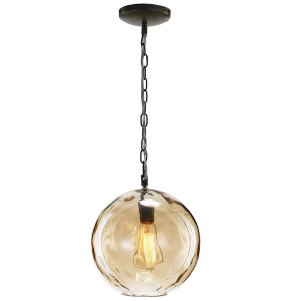 Kylie 9.5 inch Amber Ceiling Pendant