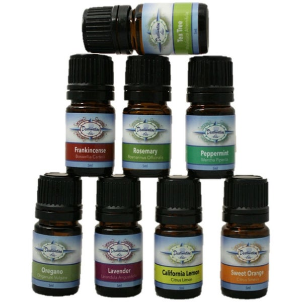 Destination Oils Essential Oil Top 8 Starter Variety Gift Set