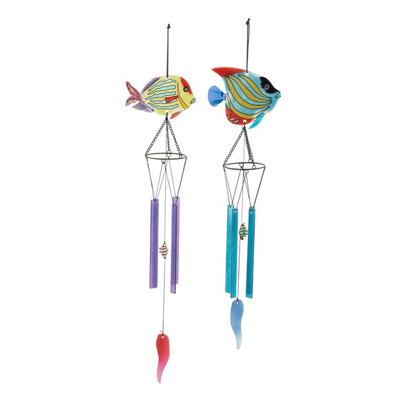 Assorted Glass Metal Wind Chimes (Set of 2)