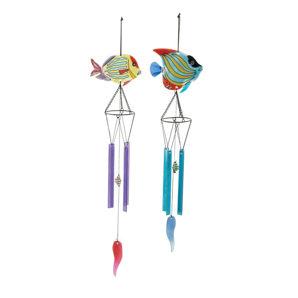 Assorted Glass Metal Wind Chimes (Set of 2) 16926426