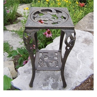 Hummingbird Iron Table Plant Stand