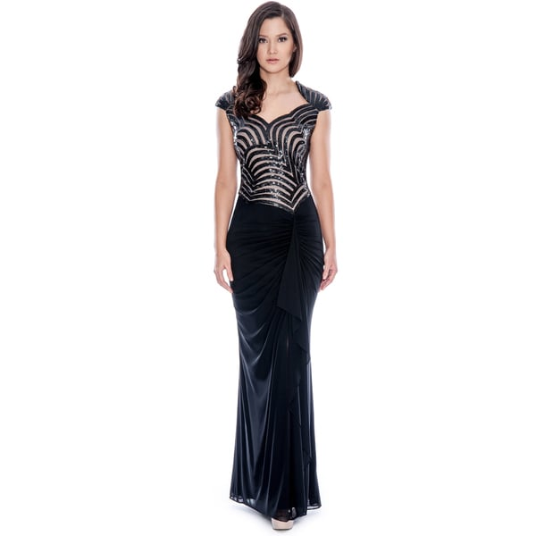 Decode 1.8 Black Sparkling Evening Gown