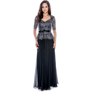 Decode 1.8 Women's Shimmer Belted Evening Gown