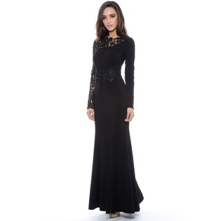 Decode 1.8 Women's Black Lace Long Sleeve Dress