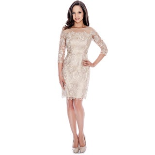 Decode 1.8 Champagne Lace Cocktail Dress