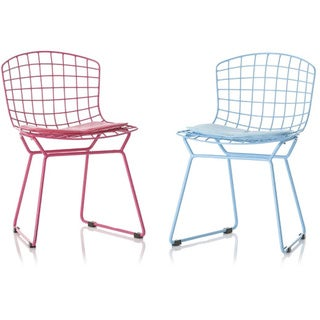 Kids Bertoia Style Wire Chairs with Cushions (Set of 4)