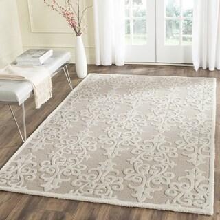 Safavieh Handmade Bella Sand/ Ivory Wool Rug (5' Square)