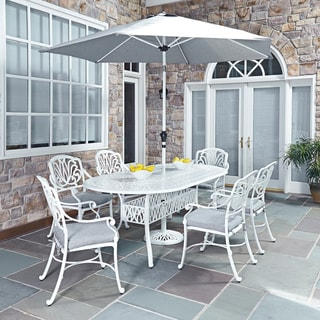 Floral Blossom II 7-piece Dining Set with Arm Chairs