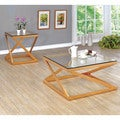 Furniture of America Mayla Contemporary 2-piece Metallic Gold Accent Table Set