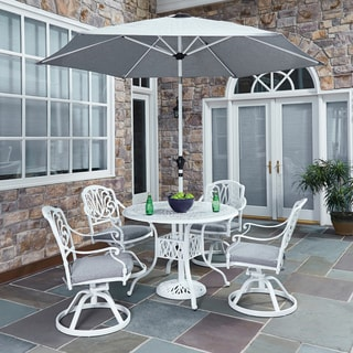 Home Styles Floral Blossom II 5-piece Dining Set with Swivel Chairs