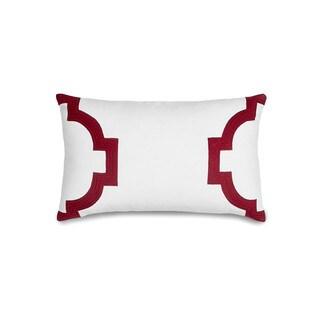 Jill Rosenwald Hampton Links Garnet Throw Pillow
