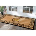 nuLOOM Estate Monogrammed Letter Welcome Door Mat (3' x 6')