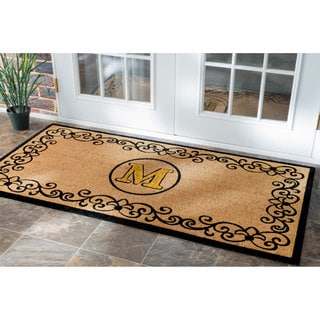 nuLOOM Estate Monogrammed Letter Welcome Door Mat (2'6 x 4')
