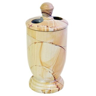 Nature Home Decor Atlantic Collection Teakwood Marble Toothbrush Holder