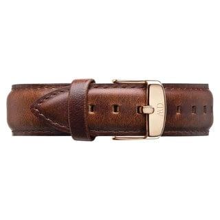 Daniel Wellington St Andrews Rose Men's Brown Leather Buckle Watch Strap