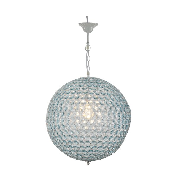 Provence Blue 1-light Chandelier with White Iron Chain