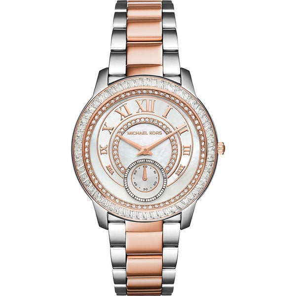 Michael Kors Women's MK6288 Diamond White Dial Two-Tone Stainless Steel Bracelet Watch
