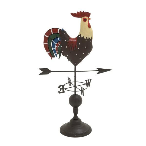 Multicolored Metal Rooster Vane