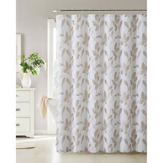 VCNY Brier Leaf Jacquard Shower Curtain
